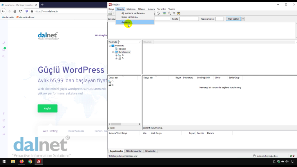 FileZilla FTP Programı Engellenme Sorunu