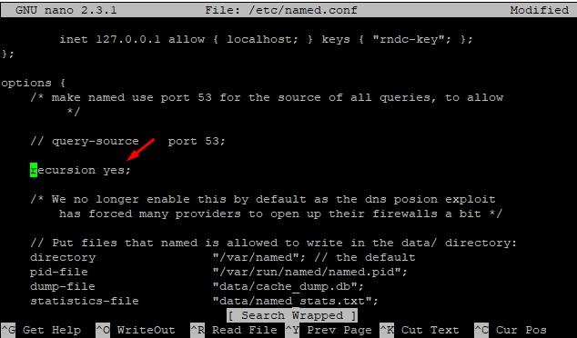 Linux DNS Recursion