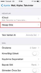 iPhone Mail Kurulumu - 3