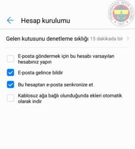 FB ANDROID 26 fenerbahce.com.tr Android E-Posta Hesabı Kurulumu