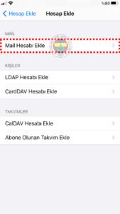 FB IMAP 5 fenerbahce.com.tr iPhone E-Posta Hesabı Kurulumu