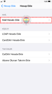 FB POP 5 fenerbahce.com.tr iPhone E-Posta Hesabı Kurulumu
